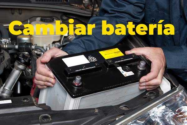 Cómo cambiar la batería del coche