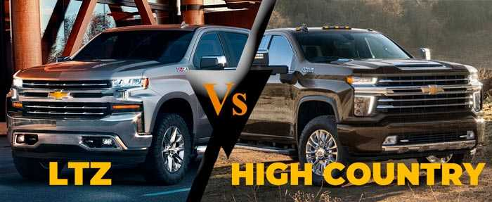 silverado ltz vs high country